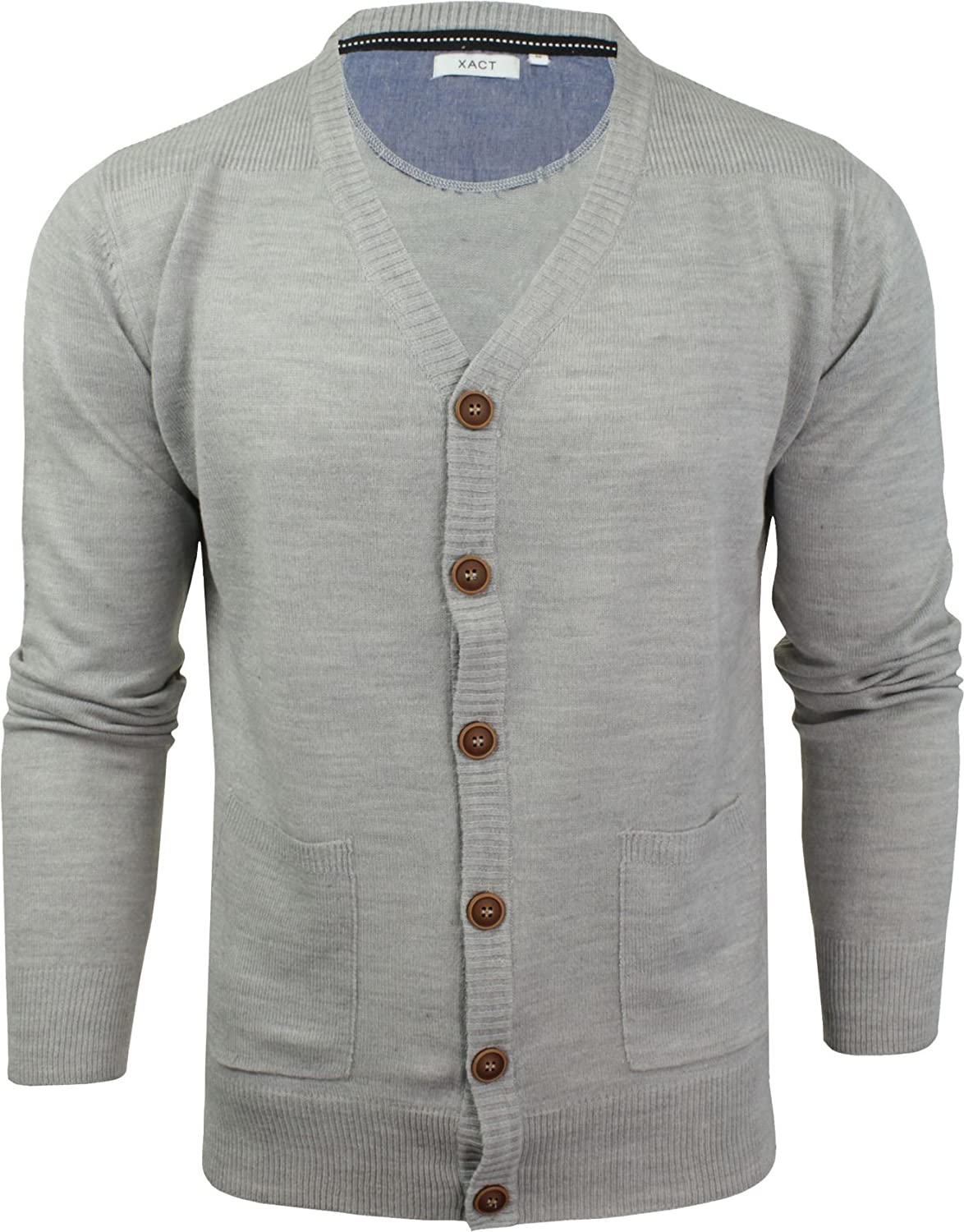 Xact Mens Cardigan Button Front Fashion Jumper