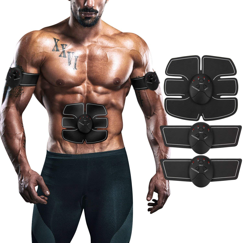 ... abdominal EMS Entrenador de músculos Impulso suave con 6 modelos y 10 niveles para Abdomen / Brazo / Pierna / Espalda Entrenamiento Ejercicio en el ...