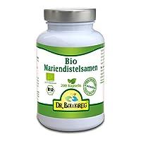 BIO-Mariendistelsamen - 200 Vegi-Kapseln - ohne Zusatzstoffe - Dr. Bawareg