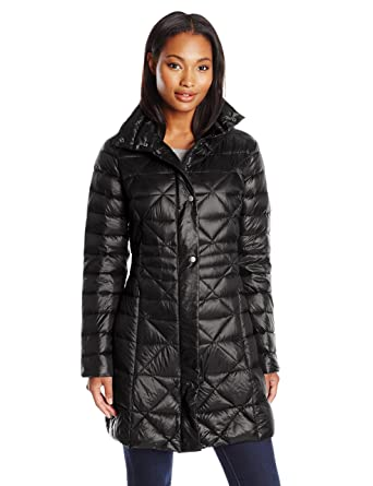0b9321f536b Amazon.com  Larry Levine Women s Packable Down Jacket  Clothing