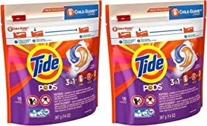 Tide Pods Laundry Detergent - Spring Meadow, 16 Pacs each (Value Pack of 2)