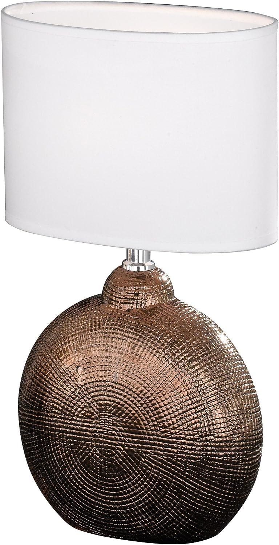 Tisch Leuchte Lampe Poste 1flg E14 Fischer /& Honsel  51321 grau 42cm
