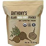 Anthony's Organic Black Maca Powder, 1 lb, Raw, Gluten Free & Non GMO