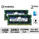 Timetec Hynix IC Apple 16GB Kit (2x8GB) DDR3 1333MHz PC3-10600 SODIMM Memory Upgrade For MacBook Pro 13-inch /15-inch /17-inch Early/Late 2011, iMac 21.5-inch Mid/Late 2011,27-inch Mid 2010/2011, Mac mini Mid 2011/ Server (16GB Kit (2x8GB))