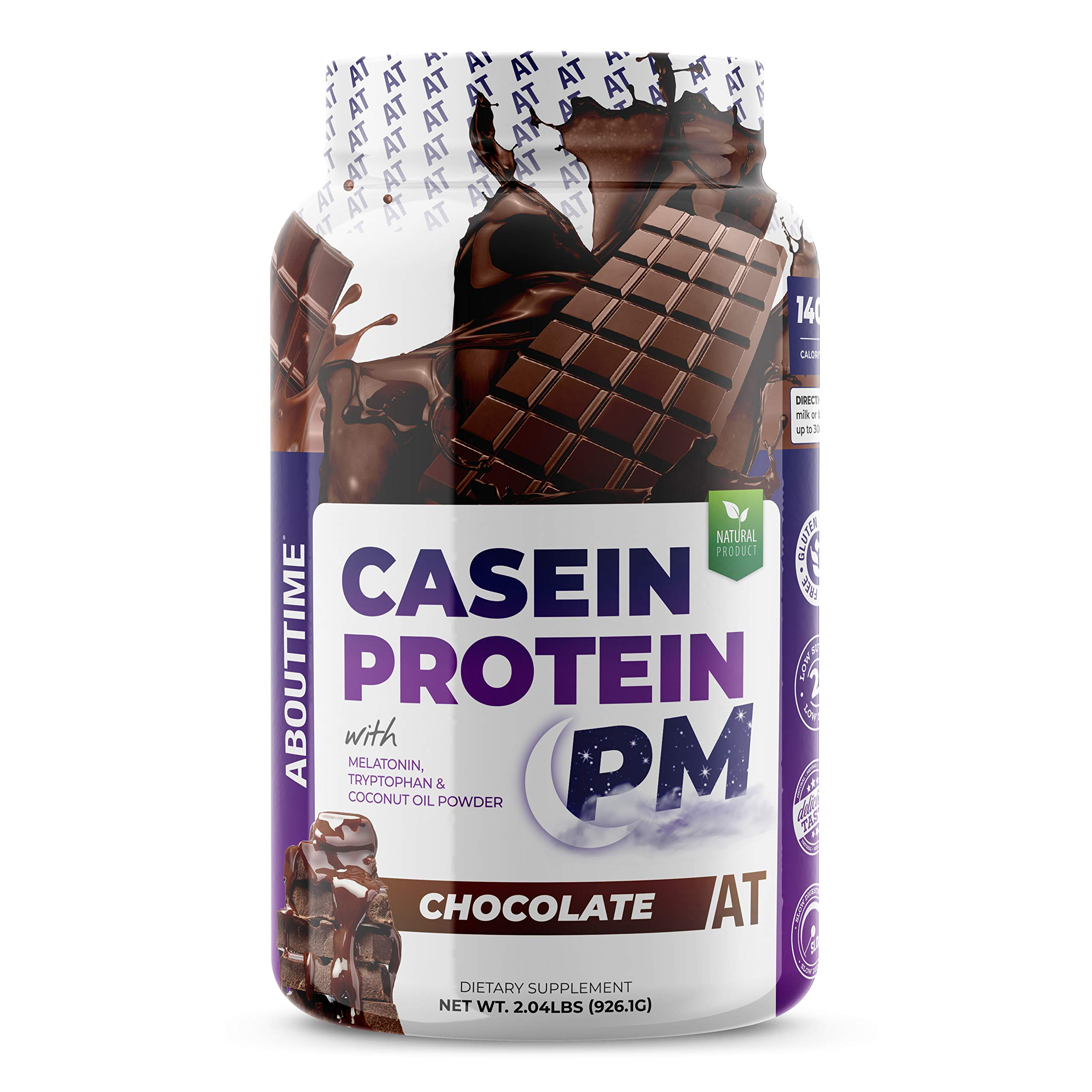Amazon.com: About Time Casein Protein Chocolate 2lb - 20g Protein, Nighttime Recovery Formula, No Artificial Sweeteners, No Growth Hormones: Health ...