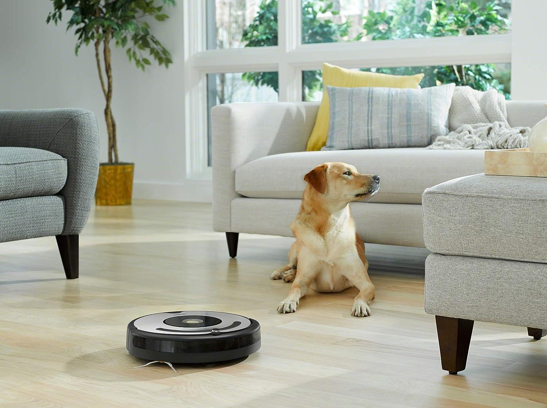 con tecnolog/ía Dirt Detect Robot aspirador para suelos duros y alfombras sistema de limpieza en 3 fases iRobot Roomba 605