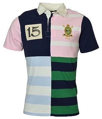 Patchwork Polo Custom Slim Rugby At Fit Lauren Shirt Men's Ralph wPOXnk08