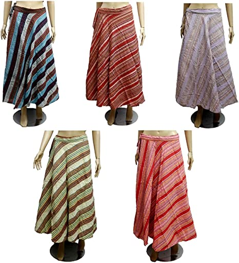 Increíble India 5pcs-100pcs rayas diseño algodón Gypsy Wrap Around ...