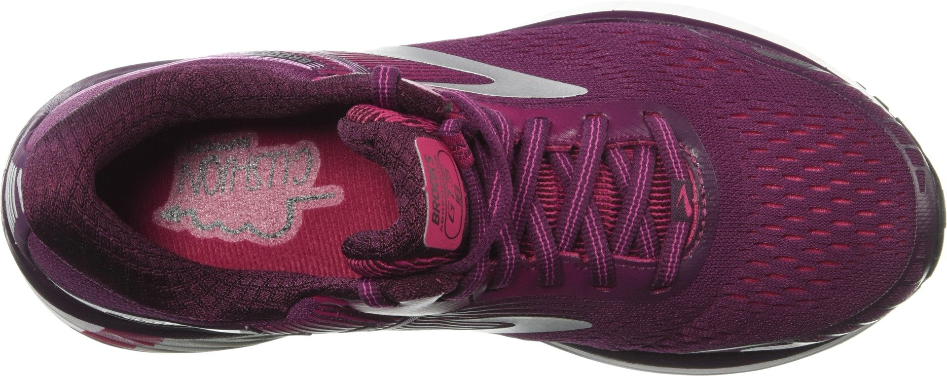 Brooks Women's Adrenaline GTS 18 Purple/Pink/Silver 5 B US by Brooks (Image #2)