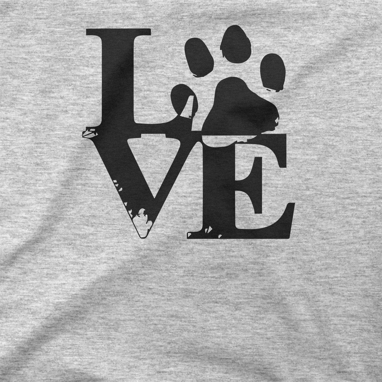 BLAK TEE Donna Animal Pet Love Slogna Cotone Canotte