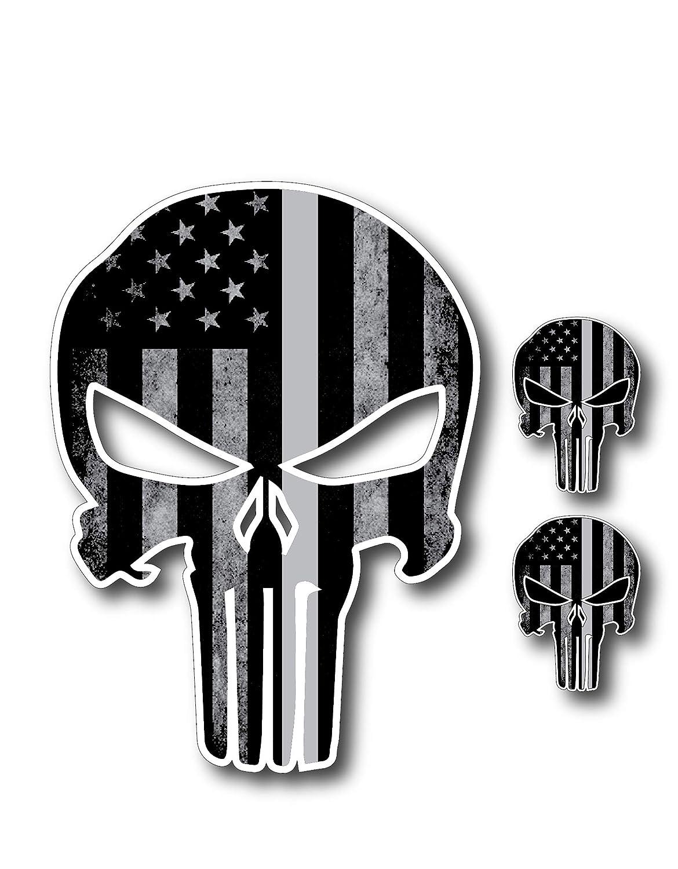 3M Graphics Army Skull Vinyl Danger Motorcycle Car Window Bumper Decal Sticker