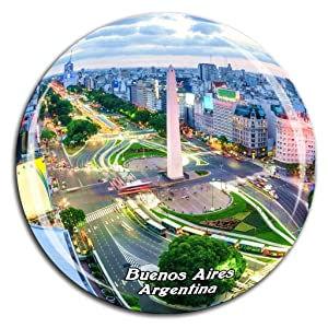 The Obelisk Buenos Aires Argentina Fridge Magnet 3D Crystal Glass Tourist City Travel Souvenir Collection Gift Strong Refrigerator Sticker