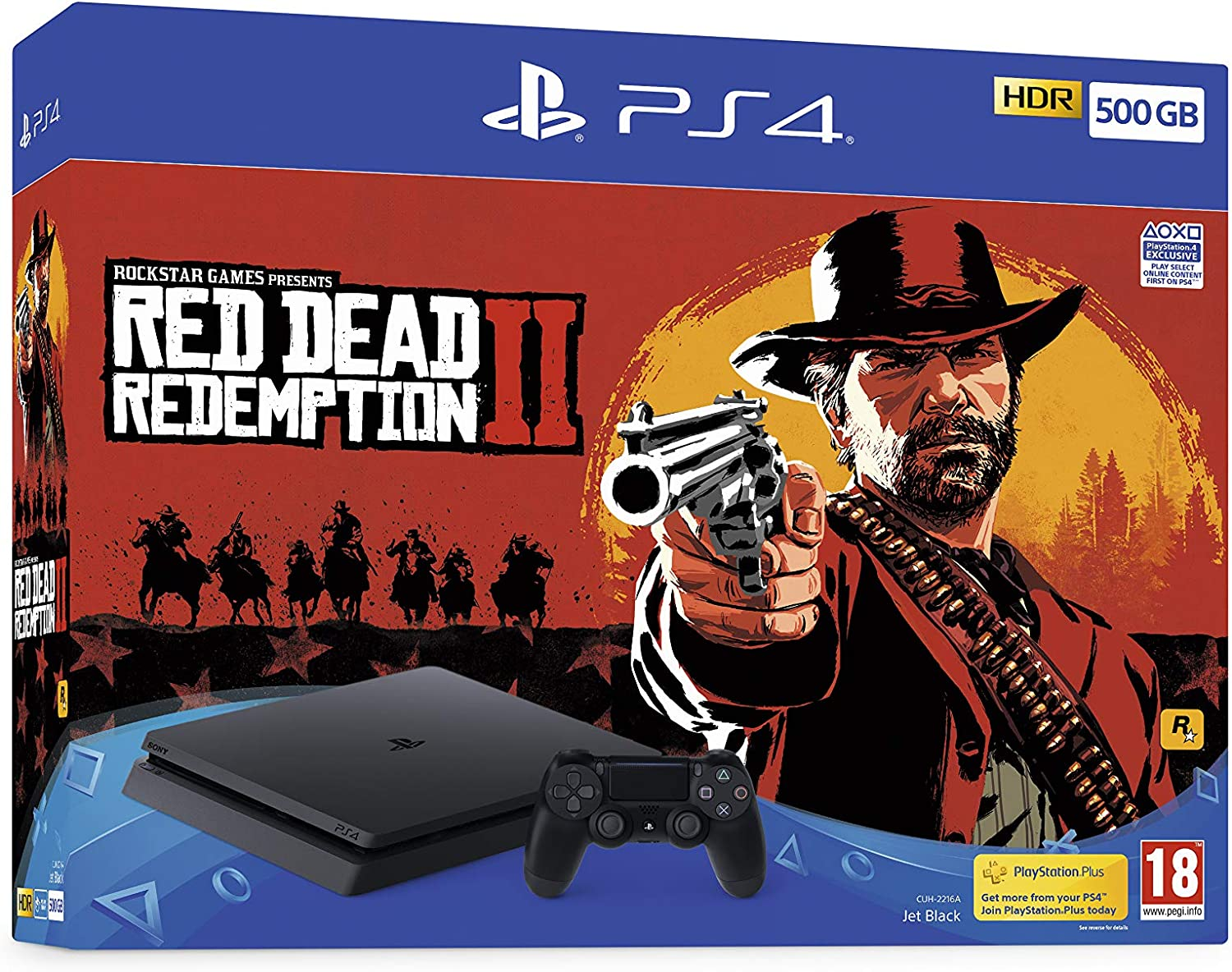 Sony PlayStation 4 500GB Console (Black) with Red Dead Redemption ...