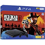 Sony PlayStation 4 500GB Console (Black) with Red Dead Redemption 2 Bundle