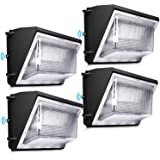 LEDMO 120W LED Wall Pack Light 4 Pack Dusk to Dawn with Photocell Outdoor Commercial Industrial Lights 840W HPS/HID Equivalen