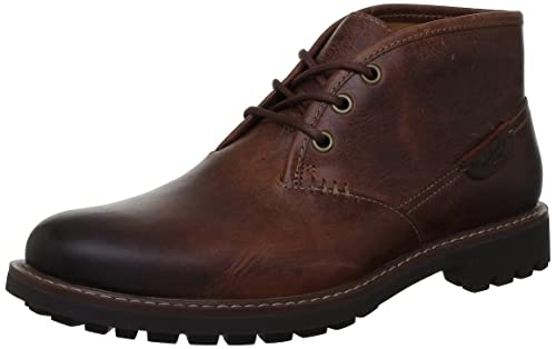 207a2e2654d4e Clarks Mens Casual Montacute Duke Leather Boots In Dark Tan Standard Fit  Size 6 (39.5