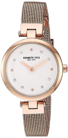 Kenneth Cole New York Mujer Reloj De Pulsera Analógico Cuarzo Acero Inoxidable kc50511003: Amazon.es: Relojes