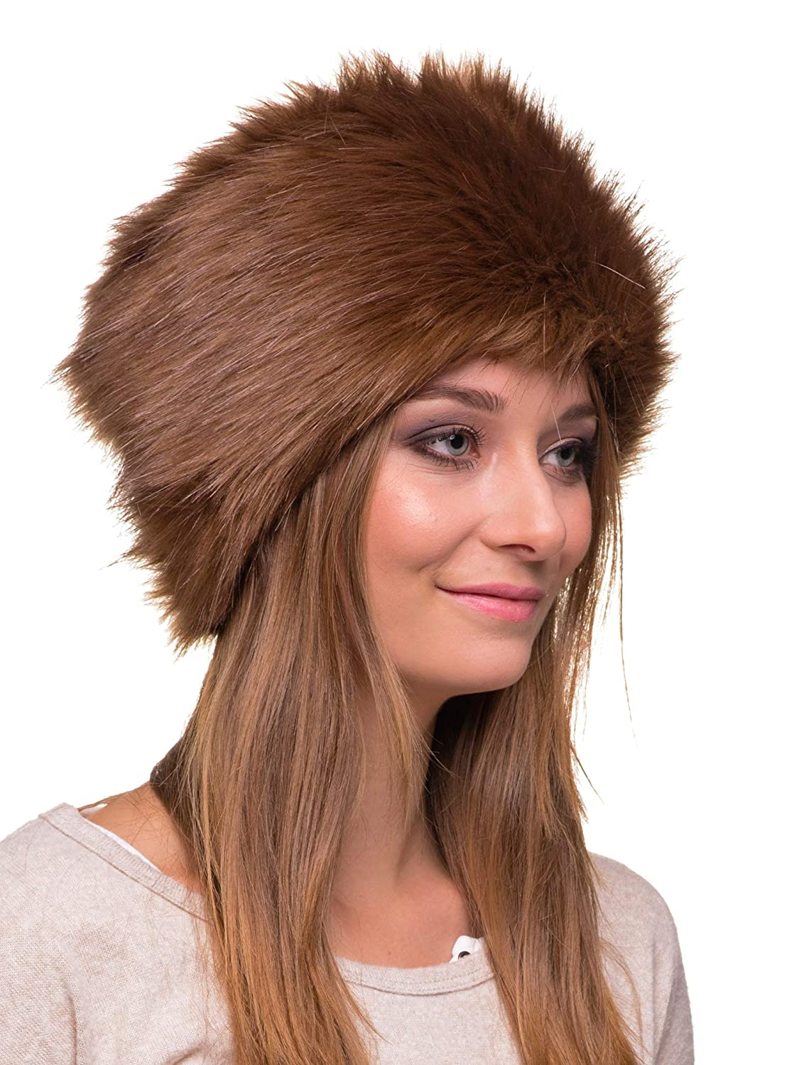 f5ac915c521 Futrzane Women s Russian Cossack Faux Fur Hat for Winter