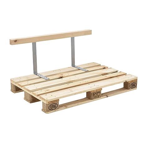 [en.casa]®] Respaldo para sofá- palé/para europalé - Apariencia de Madera Maciza - Muebles DIY