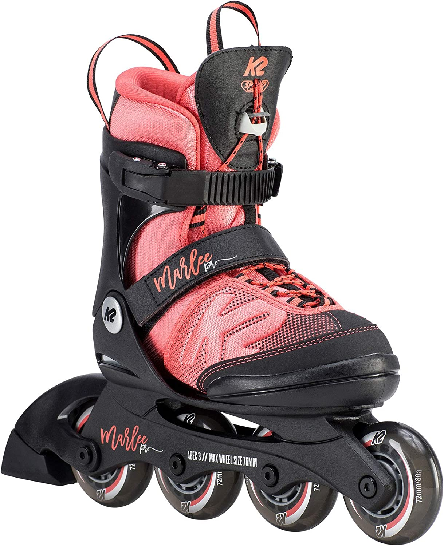 K2 Skate Youth Marlee Pro Inline Skates, Black/Coral