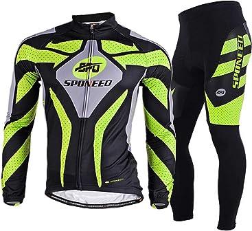 419add52d sponeed Men s Cycling Jersey Full Sleeve Riding Wear Long Sleeve T Shirts  Pants