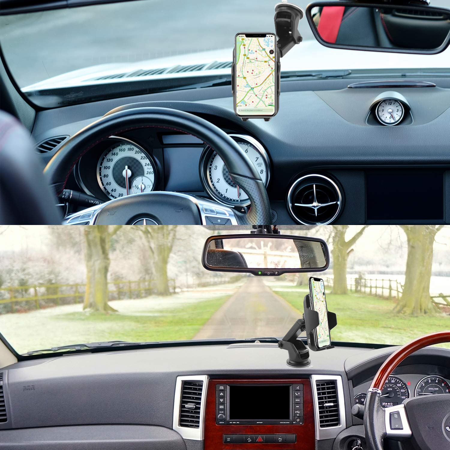 Wireless Car Charger Wireless Car Mount Air Vent Phone Holder Infrared/&Touch Sensing 5//10//15W Fast Car Charger Compatible with iPhone XS//X//8//8 Plus Samsung Galaxy S8//S8+//S7 Edge Qi-Enabled Device JINKAKA 5558979334