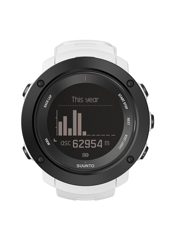 374fbba41752 Suunto - Ambit3 Vertical HR - SS021966000 - Reloj GPS Multideporte +  Cinturón de frecuencia cardiaca (Talla M) - Ideal para montaña - Blanco   Amazon.es  ...