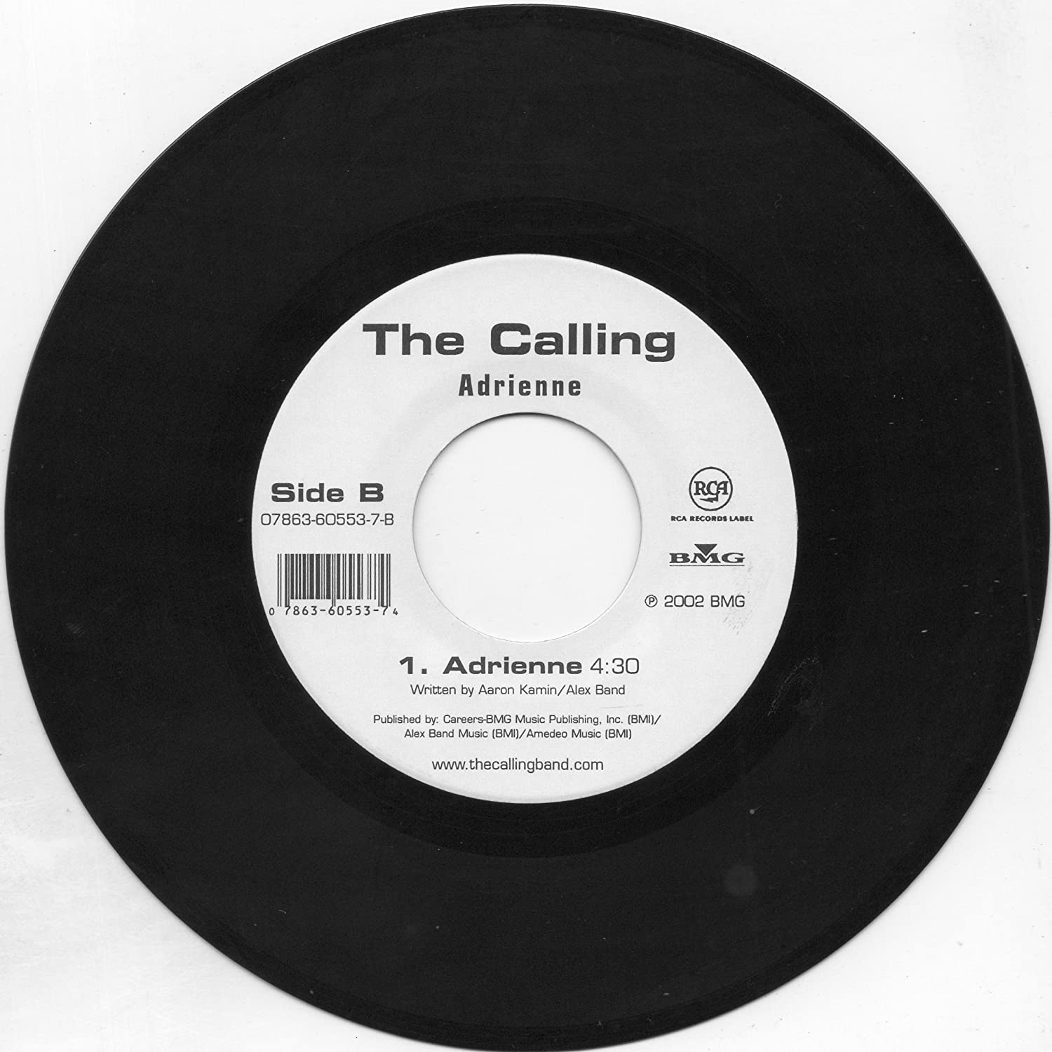Wherever You Will Go/Adrienne (US 7 Inch Vinyl 45) Limited Edition,  Original recording