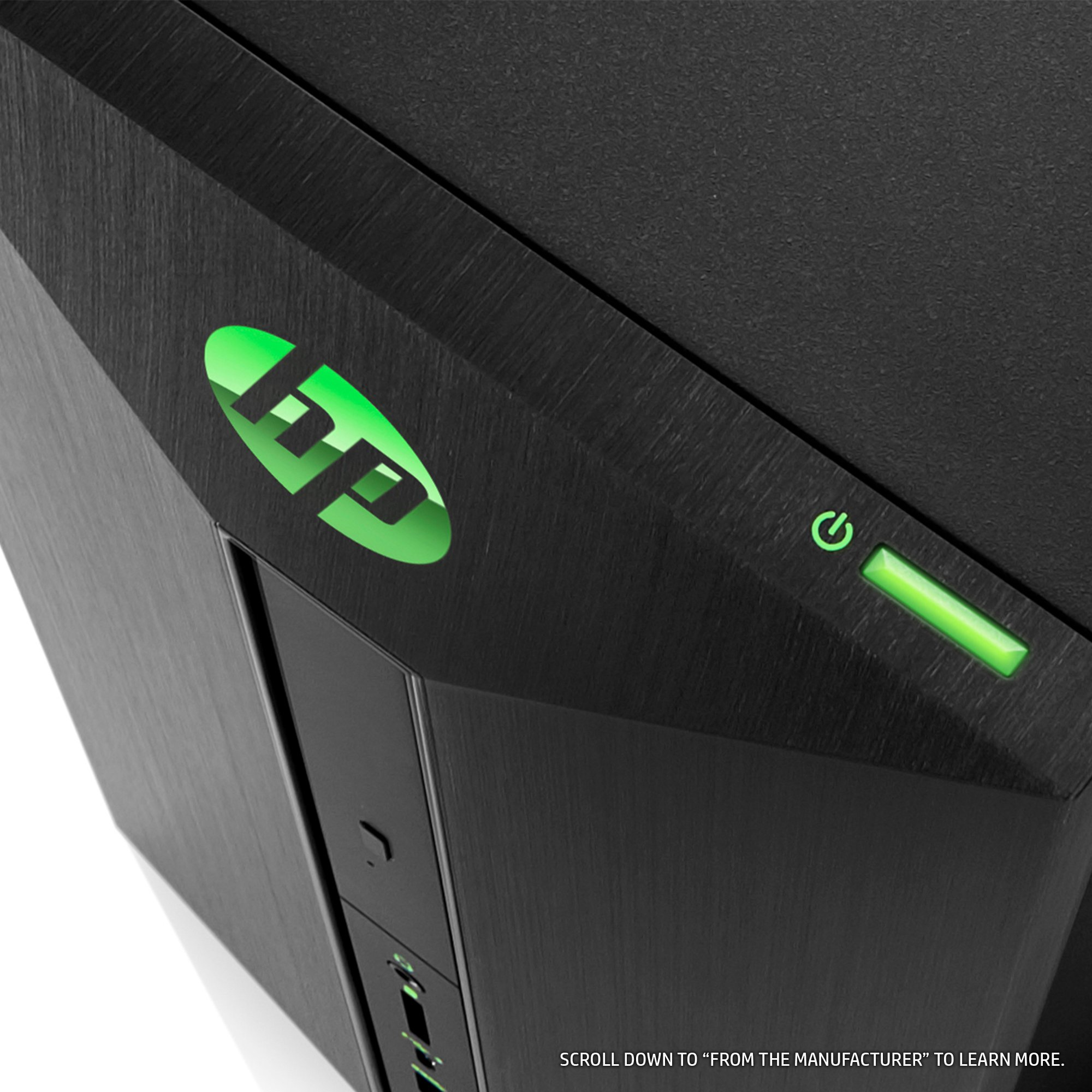 HP Pavilion Power Desktop Computer, Intel Core i7-7700, NVIDIA GeForce GTX 1060, 16GB RAM, 1TB hard drive, 128GB SSD, Windows 10 (580-068, Black) by HP (Image #6)