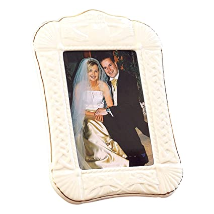 Amazon.com - Belleek 5 by 7-Inch Claddagh Picture Frame - Single Frames
