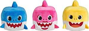 WowWee Pinkfong Baby Shark Official Song Cube - Shark Family 3 Pack