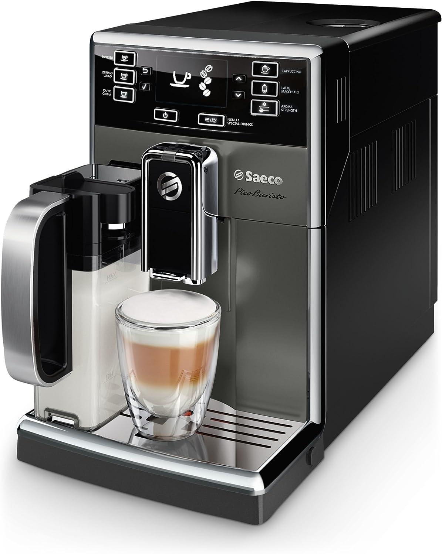 Saeco HD8926/29 - Cafetera (Independiente, Máquina espresso, 1,8 L, Granos de café, De café molido, Molinillo integrado, Negro, Titanio): Amazon.es: Hogar