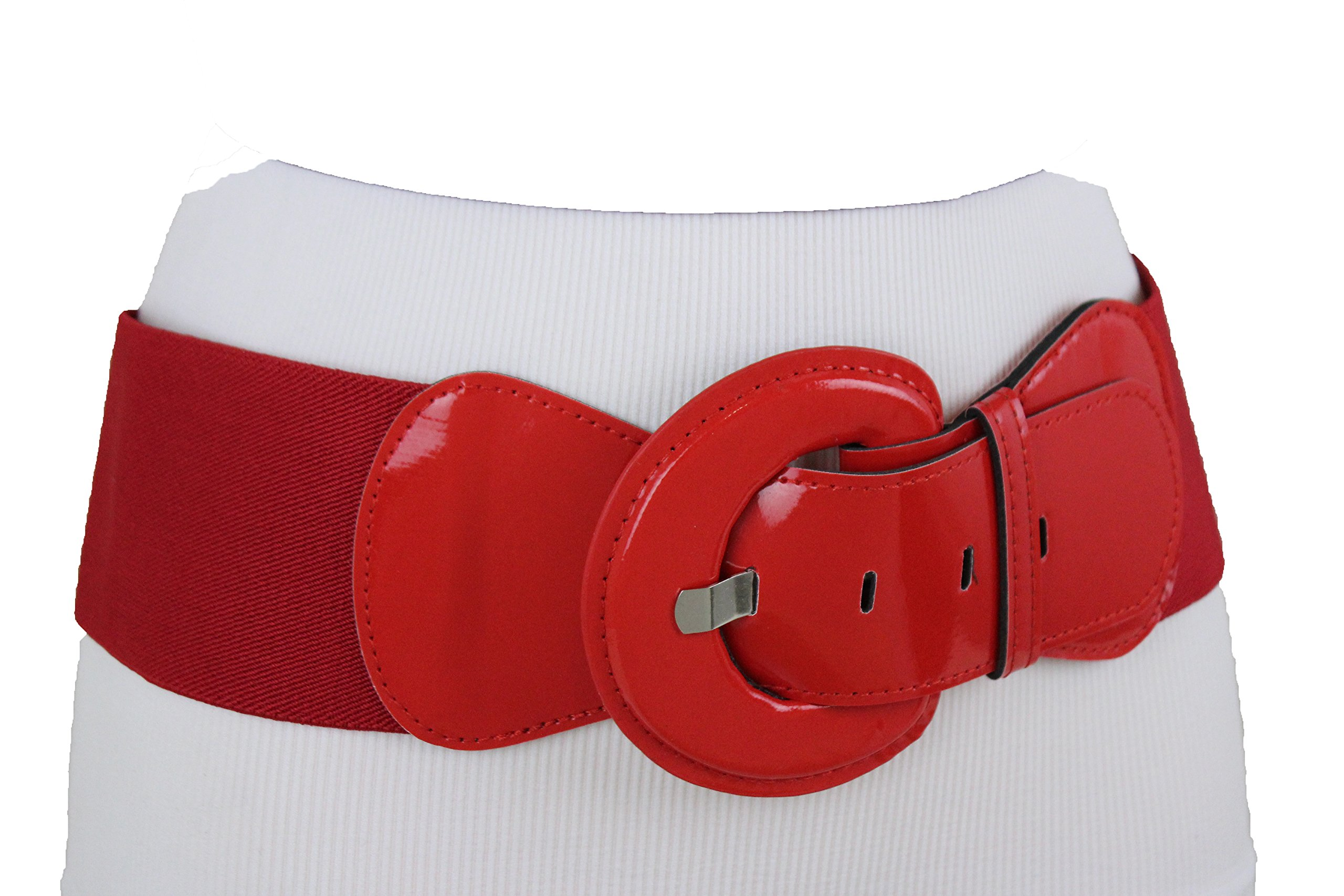 TFJ Women Fashion Fun Belt Hip High Waist True Real Red Color Plus Size M L XL