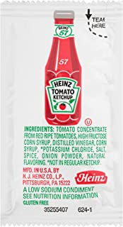 product image for Heinz Low Sodium Ketchup Single Serve Packet (0.3 oz Packets, Pack of 1000)