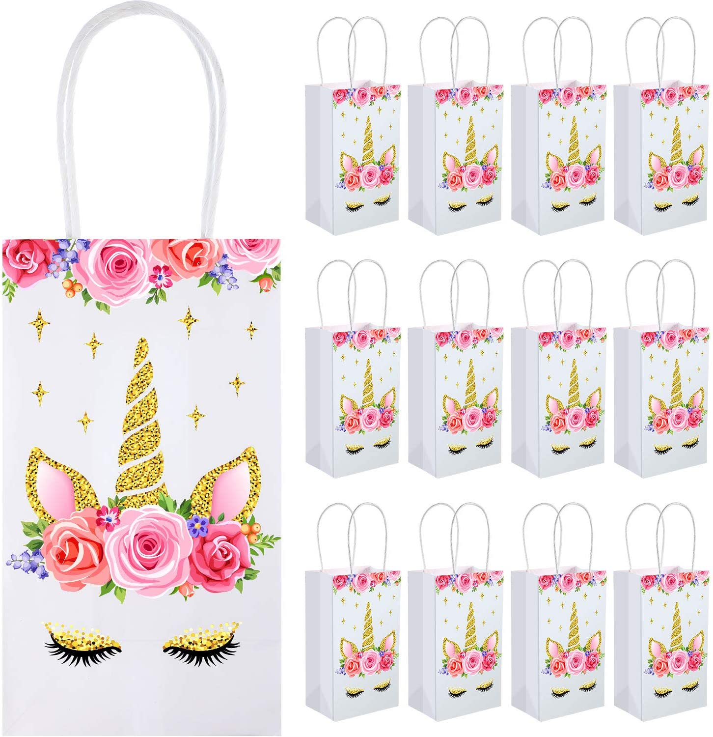 Unicorn Party Favor Bags for 12 to 15 Guests