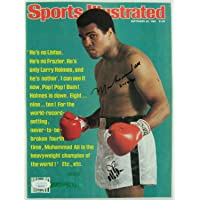 $515 » Muhammad Ali Signed Sports Illustrated Magazine 9/29/80 Issue Cut Cover BB09 - JSA Certified - Autographed Boxing Magazines
