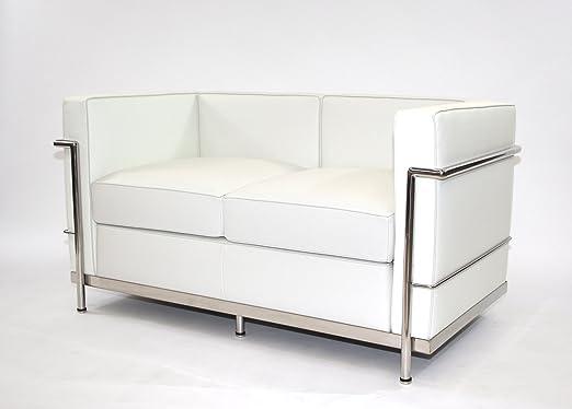 Charles L. Corbusier LC2 - 2 sofá de 2 plazas de Piel Color ...