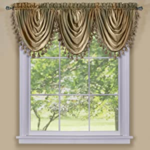 Achim Home Furnishings Ombre Waterfall Window Curtain Valance, 46