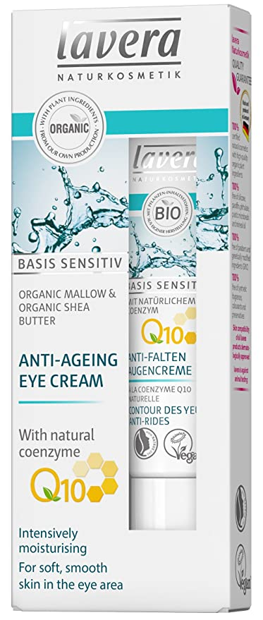 Lavera - Basis Sensitiv Anti-Ageing Eye Cream Q10 - 15ml/0.5oz Cellmen Eye Dark Circles-TX/.50oz