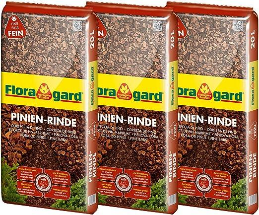 Floragarde Mantillo 3 x Corteza de Pino 2 – 8 mm 20 L, 114873: Amazon.es: Jardín
