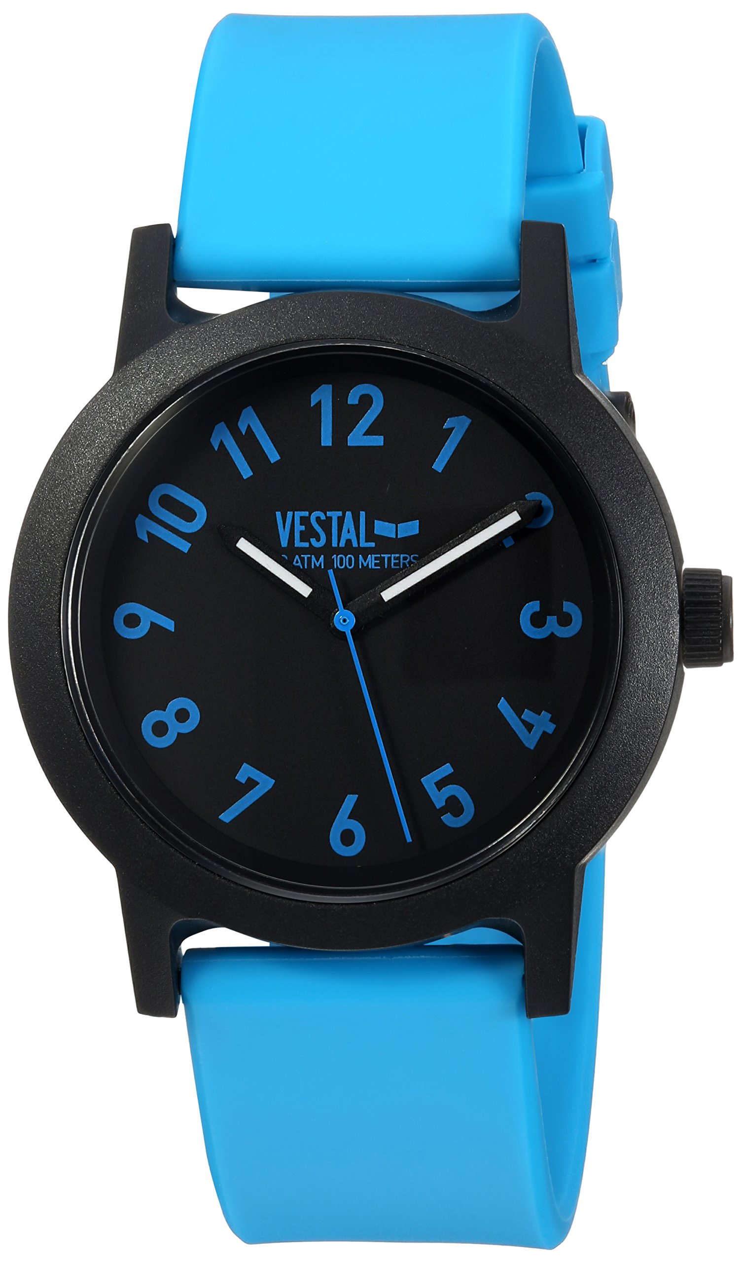 Vestal Alpha Bravo 10 ATM Japanese-Quartz Watch with Plastic Strap, Blue, 20 (Model: ALP3P06) by VESTAL