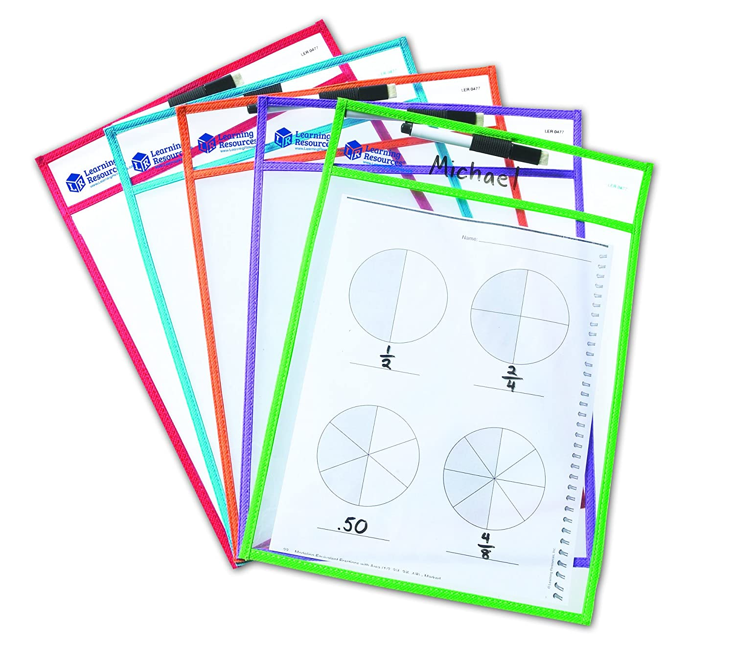 dry erase pocket sleeves