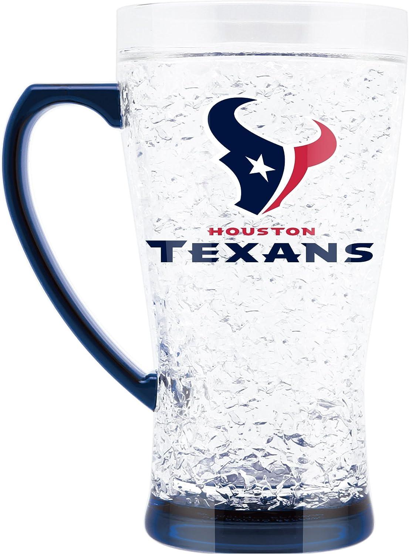 NFL Houston Texans 16oz Crystal Freezer Flared Mug