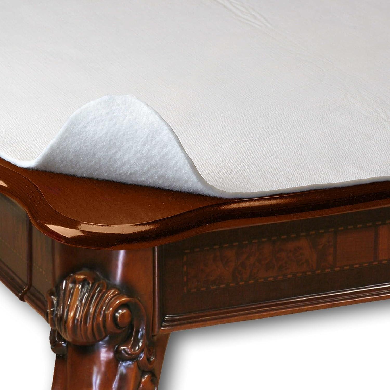 "HomeCrate Wide Premium Cushioned Heavy Duty Vinyl Table Pad, 70"" Round, Cream: Kitchen & Dining"