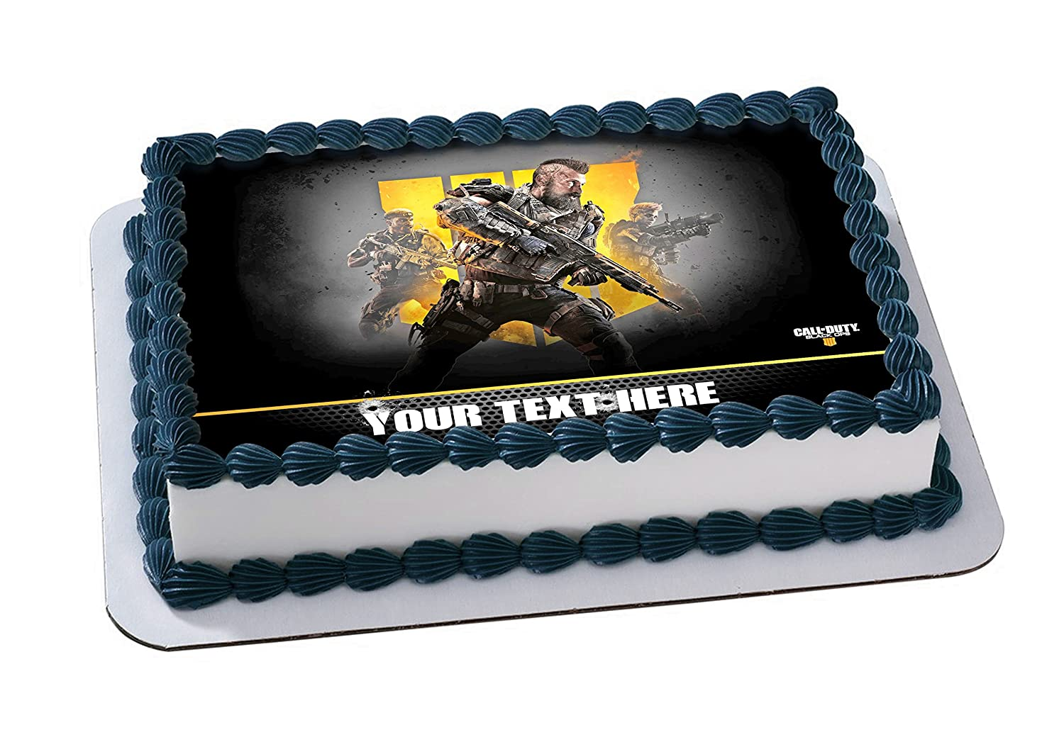 Call Of Duty Black Ops IV Edible Image Cake Topper Personalized Birthday 1 4 Sheet Decoration Custom Party Sugar Frosting Transfer Fondant