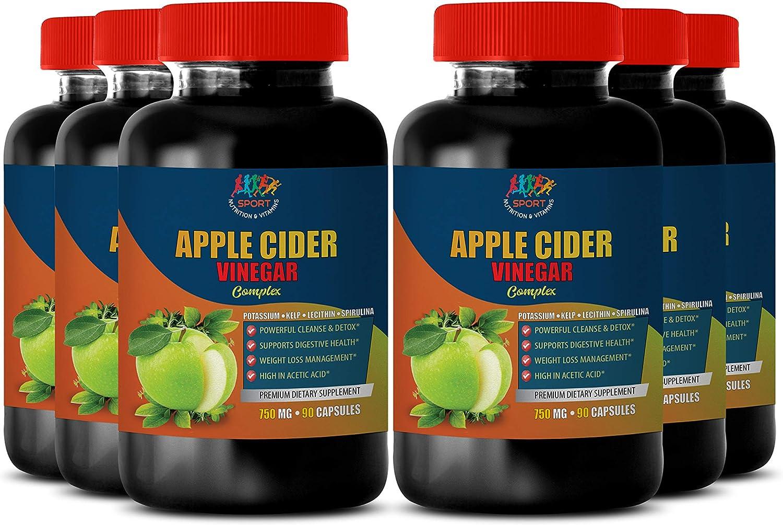 Lower Cholesterol Supplements - Apple Cider Vinegar Complex 750 MG - spirulina Blue Green Algae - 6B (540 Capsules)