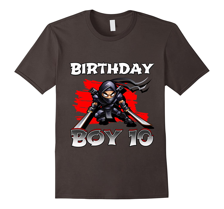 10th Tenth 10 Ten Years Birthday Boy Ninja T Shirts
