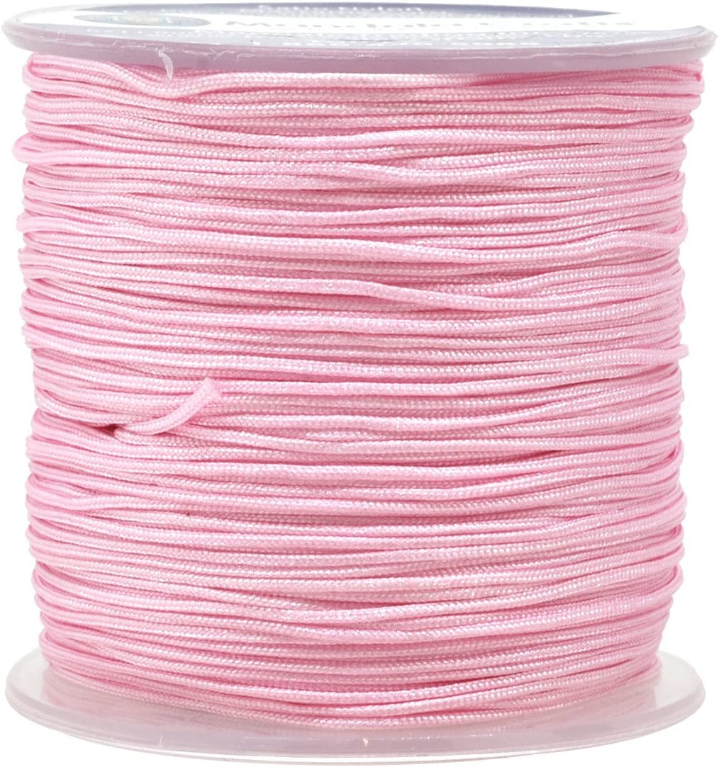 New 1mm Cords Beading Macrame String Knotting Pink Thread 100m//roll