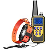 Cambond Shock Collar for Dogs, Waterproof Dog Training Collar with Remote 2600ft Control Range Rechargeable Dog Shock Collar with 4 Training Modes Light Shock Vibration Beep for Medium and Large Dogs
