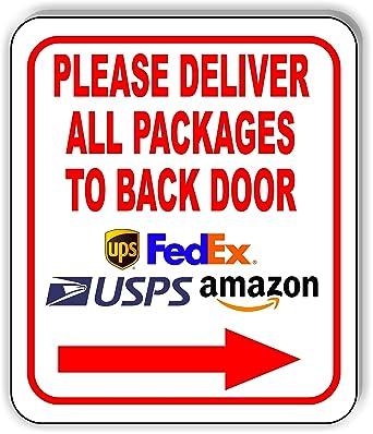 Amazon.com: Cartel de aluminio compuesto para puerta trasera ...